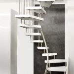 White Stair Circled From The Bottom To Top