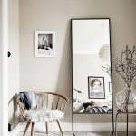 Mirror With Black Frame, Square, With Clear Smooth Support