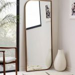 Mirror With Golden Frame, Square With Smooth Corner