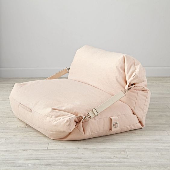 adjusted bean bag in pink