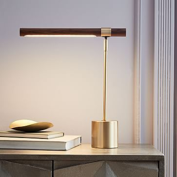 bar table lamp wth metal and wood material