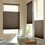 Brown Cellular Shades Put In Different Area Of The Window