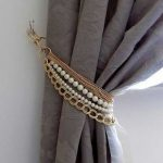 Faux Chains And Pearl Curtain Tie Back