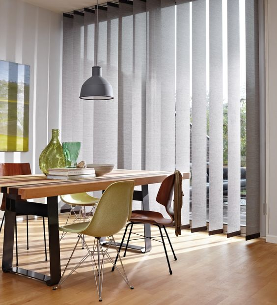 grey vertical blinds