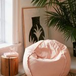 Pink Round Basic Bean Bag