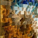Rustic Wood Wall Decoration With Brown And Blue Panted Wood