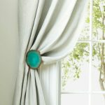 Turquoise Button Curtain Tie Back