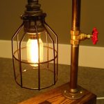 Water Pipe Shaped Metal Table Lamp
