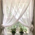 White See Through Drapery Curtain