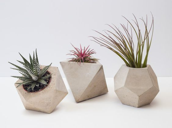 geometrical cubes planters