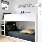 Bedroom With Wooden Floor, White Wooden Bunk Bed With Bed From The Floor Level