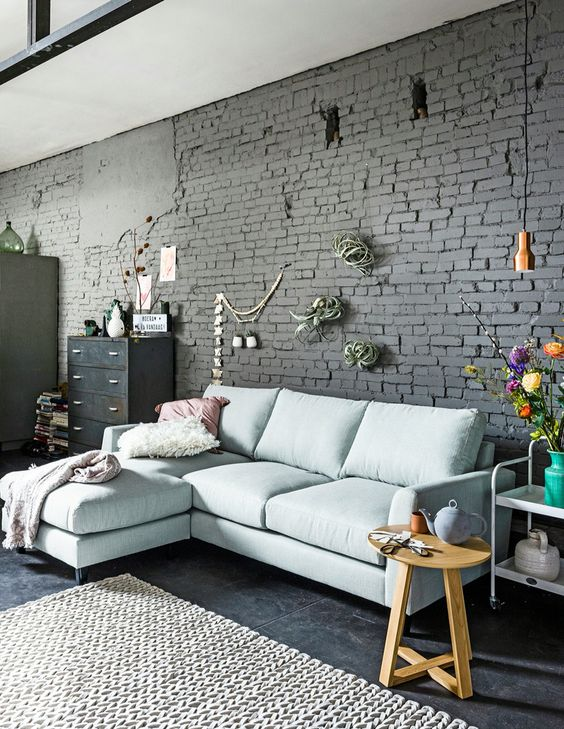 Attractive Exposed Brick To Warm The Living Room Decohoms