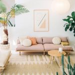 Pink Wide Sofa With Laid Back Back, No Arm Rest, Woodenplatform