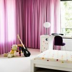 Purple Basic Curtain For A Kids Room