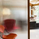 Room Divider Frmaed In Wood, Glass Crystal
