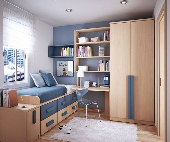 Furnishing Teens\' Minimalist Bedroom with Study Area in ...