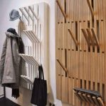 Wall Pinned Coat Rack With Adjustable Wooden Hooks