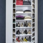 White Shoe Organizer That Can Spin