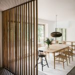 Wooden Bars Room Divider