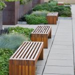 Wooden Patio Benches Outdoor