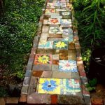 Small Pathway With Small Vibrant Tiles, Earthy Tiles
