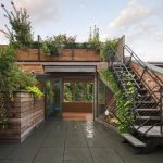 Garden On The Upstairs, On The Stairs, On Top Of The Wooden Half Wall, Black Stairs