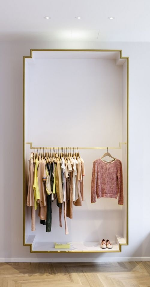 open closet in a floating box