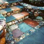 Stairs With Earthy Tiles, Pebbles, Stones