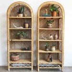 Two Rattan Shelves With Arch Top, Pattern On Below