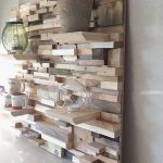 Wooden Wall Decoration With Shelves