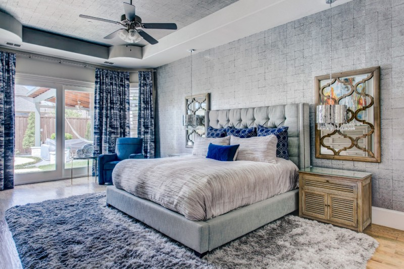 Ten Ideas of Dazzling Blue and Gray Bedroom | Decohoms