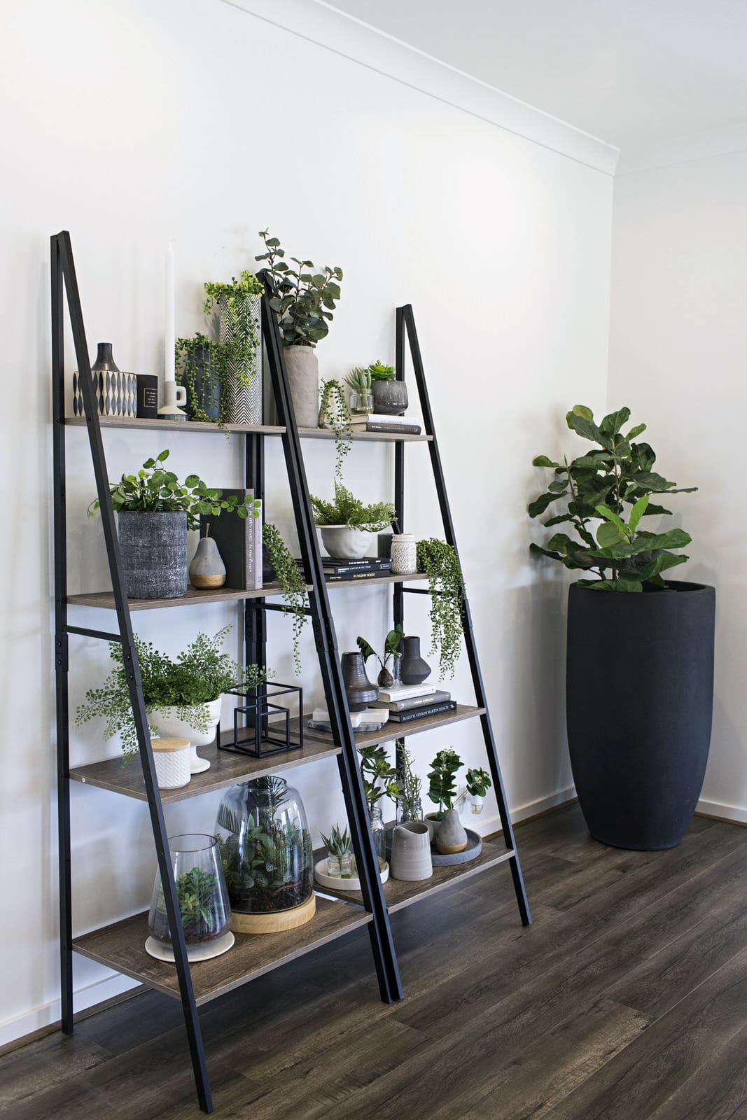 kmart industrial ladder shelf indoor vertical garden ideas