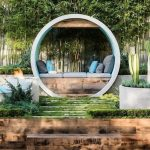 Round Wheel With Floating Bench And Cushions And Pilloes Inside