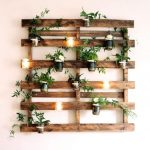 Wood Floating Plank On The Wall For Plants