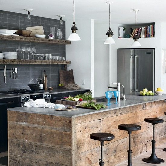 4 chic industrial kitchen with stainless steel worktop