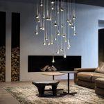 4 Raindrops Pendant Lamps Crystal Glass