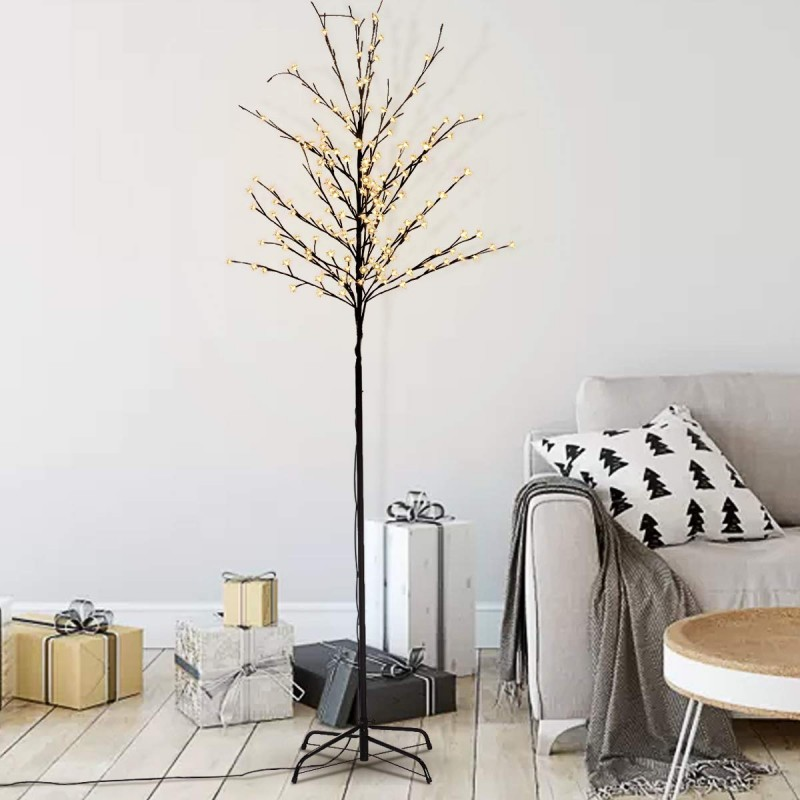 7 blossom flower tree standing lamps