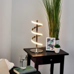 9 Spiral Shaped Led Table Lamp To Enhance Warmth In Livingroom