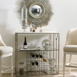 Bar Server Furniture Silver Sunburst Wall Mirror Chrome Bar Server White Barstools Wine Glass Chrome Wine Rack Glass Container