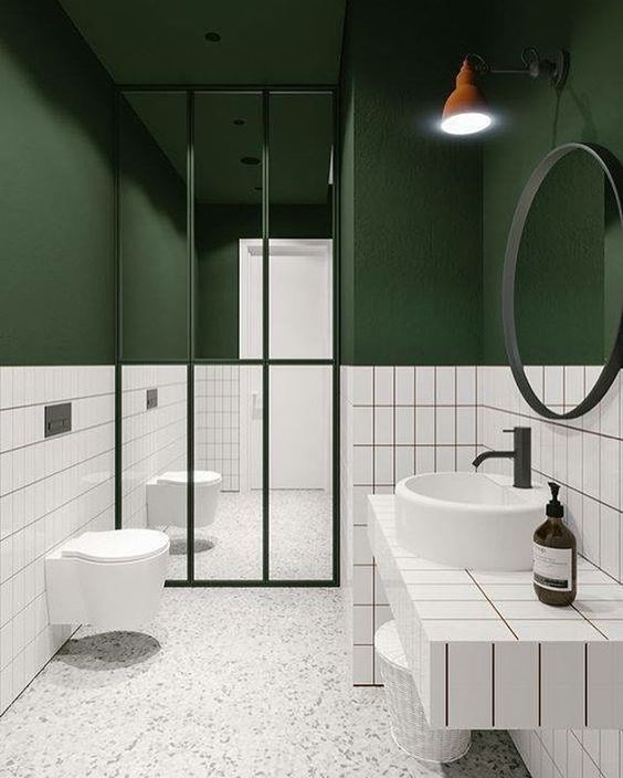 The Pretty and Gorgeous Modern Green Bathrooms | Decohoms