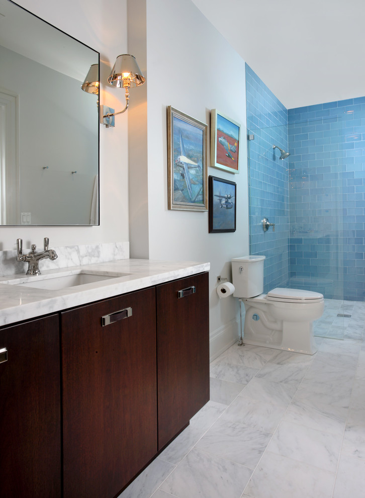 Attractive Blue Wall Tile Ideas For Your Bathroom Decohoms