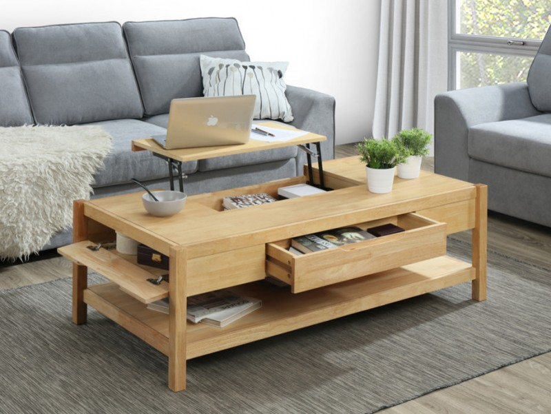 Ten Ideas Of Classic Coffee Table With Storage Drawers