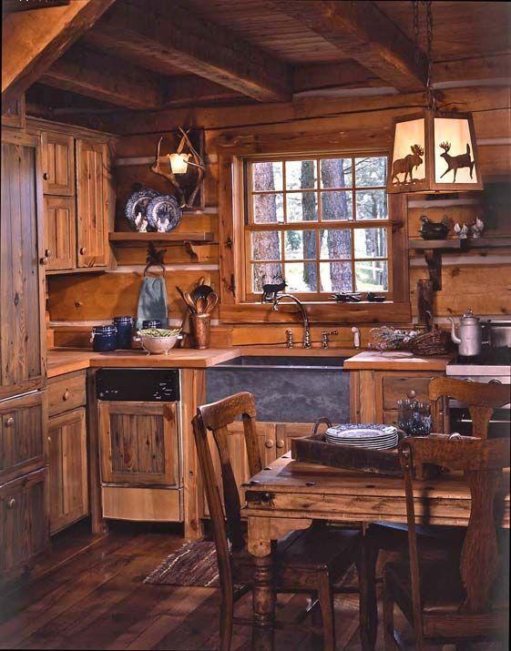 kitchen, wooden floor, wooden ceiling, wooden wall, wooden rough cabinet, wooden kitchen top, wooden dining set