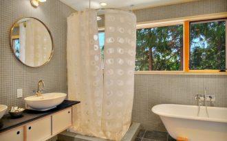 nice shower curtains round curtain rod wound wall mirror freestanding battub wall mounted tub filler gray floot tile floating vanitu sink windows