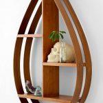 Wooden Tear Floating Shelves