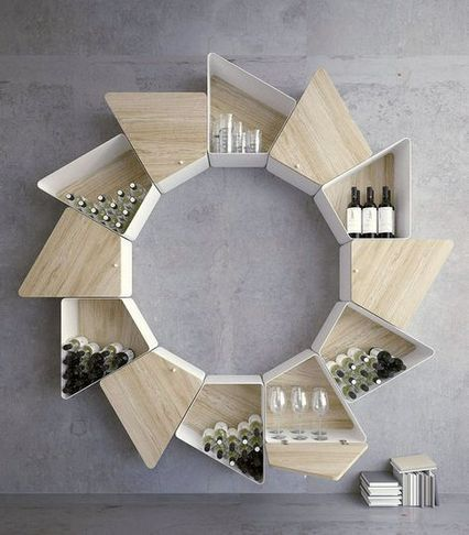 wooden vortex floating shelves