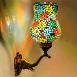 4. Multicoloured Mozaic Wall Lampshade With Elephant Trunk Accent