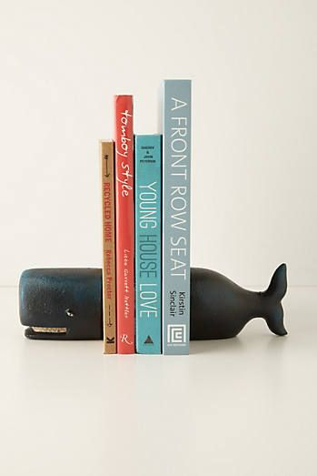 black whale book ends