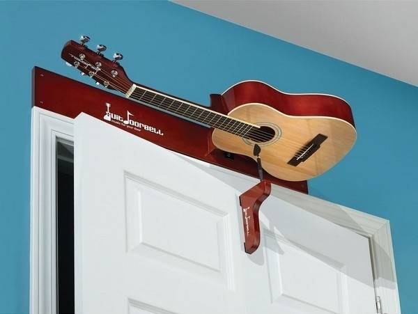 guitar room chimer on top of a white door
