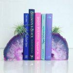 Purple Stone Book Ends